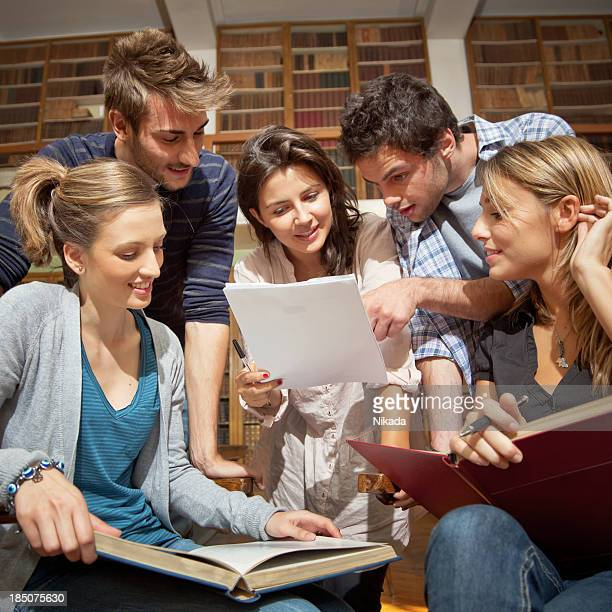 Young students learning together