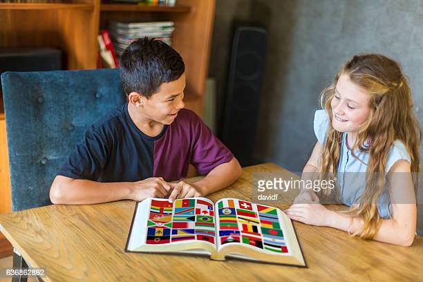 Young Students of Diverse Race Studying Together in New Zealand