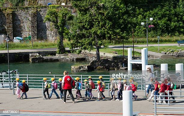 young students out on a field trip - ogphoto stock pictures, royalty-free photos & images