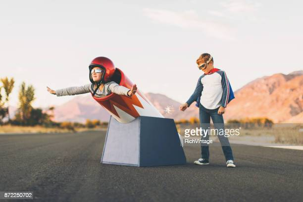 Young Stunt Girl and Human Cannon Ball