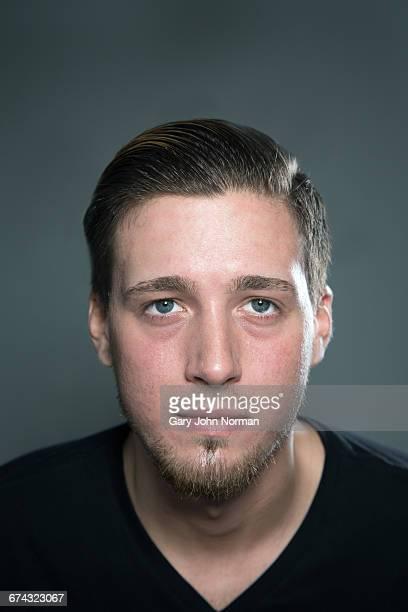 Young stylish male with beard, headshot
