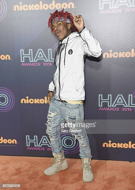 Young Swag attends the Nickelodeon Halo Awards 2016 at Pier 36 on November 11 2016 in New York City