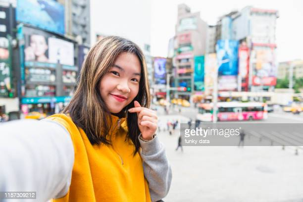 young taiwanese student in ximen taipei - local landmark stock pictures, royalty-free photos & images