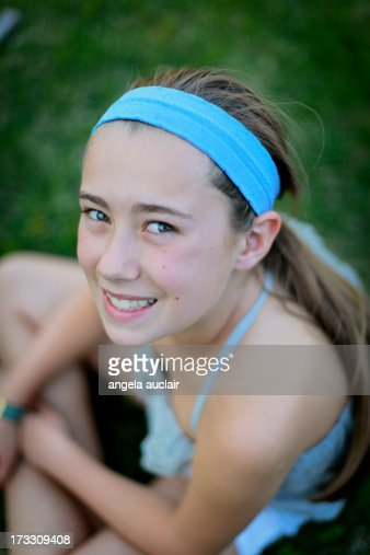 Young Teen Girl Stock Photo