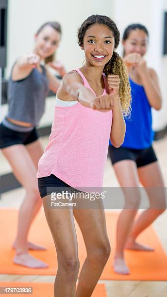 Young Teenager Yoga Class