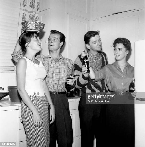 Young television actors on a double date Marlene Willis and Richard Miles on a double date with Bob Denver and Gigi Perreau Bob Denver is a cast...
