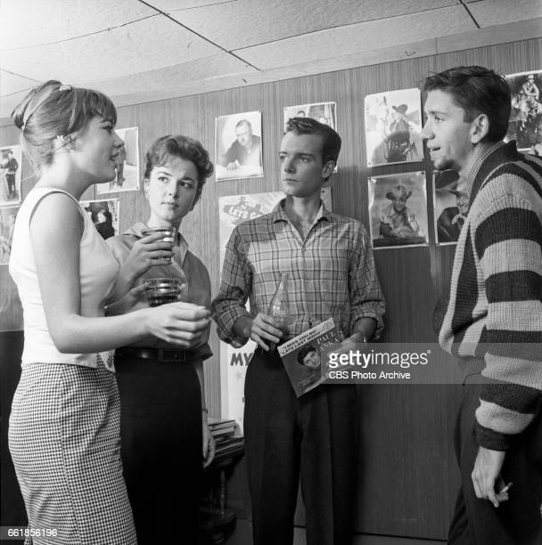 Young television actors on a double date Marlene Willis Gigi Perreau Richard Miles and Bob Denver Bob Denver is a cast member on The Many Loves of...