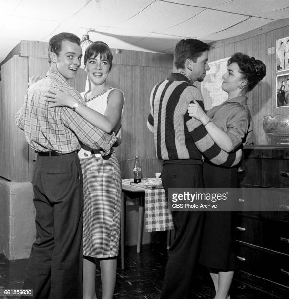 Young television actors on a double date Richard Miles and Marlene Willis on a double date with Bob Denver and Gigi Perreau Bob Denver is a cast...