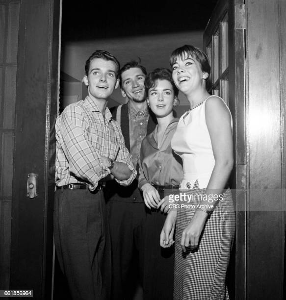Young television actors on a double date Richard Miles Bob Denver Gigi Perreau and Marlene Willis Bob Denver is a cast member on The Many Loves of...