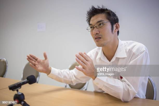Young Thai businessman billionaire Thanathorn Juangroonruangkit speaks during an interview on his new political party 'Future Forward'. Thanathorn...
