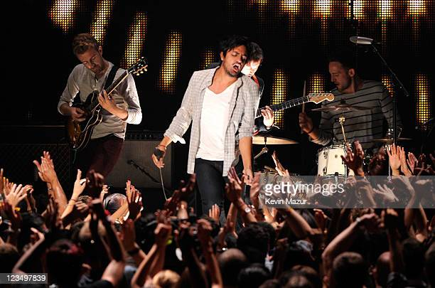 Young The Giant performs on stage at the The 28th Annual MTV Video Music Awards at Nokia Theatre L.A. LIVE on August 28, 2011 in Los Angeles,...