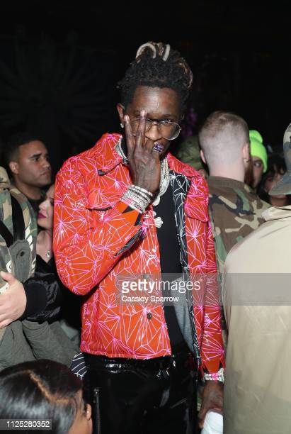 Young Thug attends as The Weeknd celebrates his birthday at TAO Downtown with Remy Martin at TAO Downtown on February 15 2019 in New York City