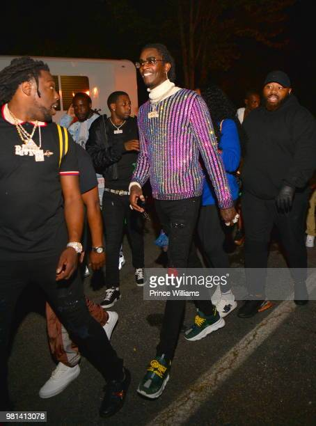 Young Thug attends Birthday Bash 2018 at Cellairis Amphitheatre at Lakewood on June 16 2018 in Atlanta Georgia