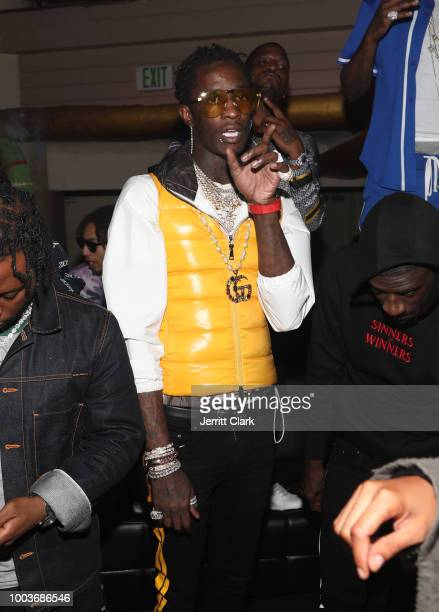 Young Thug attends The 2018 Maxim Hot 100 Party at Hollywood Palladium on July 21 2018 in Los Angeles California