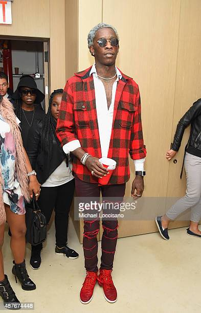 Young Thug attends the Rihanna Party at The New York Edition on September 10 2015 in New York City