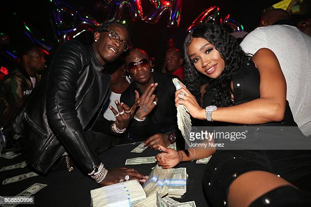 Young Thug Birdman and Jerrika Karlae celebrate Jerrika Karlae's birthday at Magic City on September 17 2016 in Atlanta Georgia