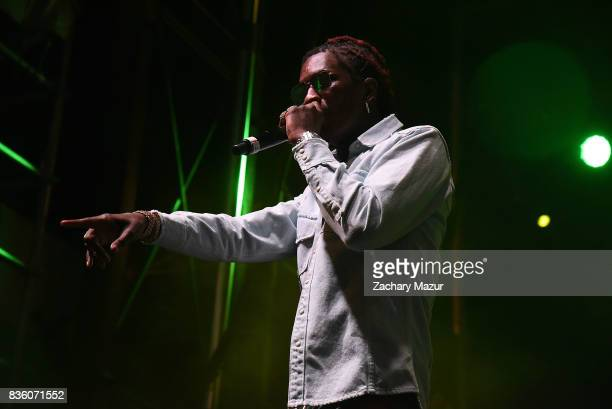 Young Thug performs at 2017 Billboard HOT 100 Music Festival at Northwell Health at Jones Beach Theater on August 20 2017 in Wantagh New York