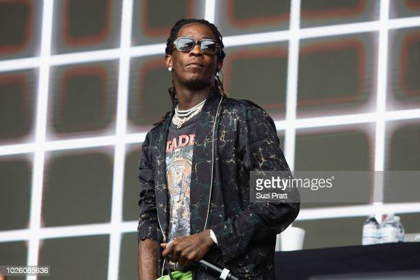 Young Thug performs at Bumbershoot at Seattle Center on September 1 2018 in Seattle Washington