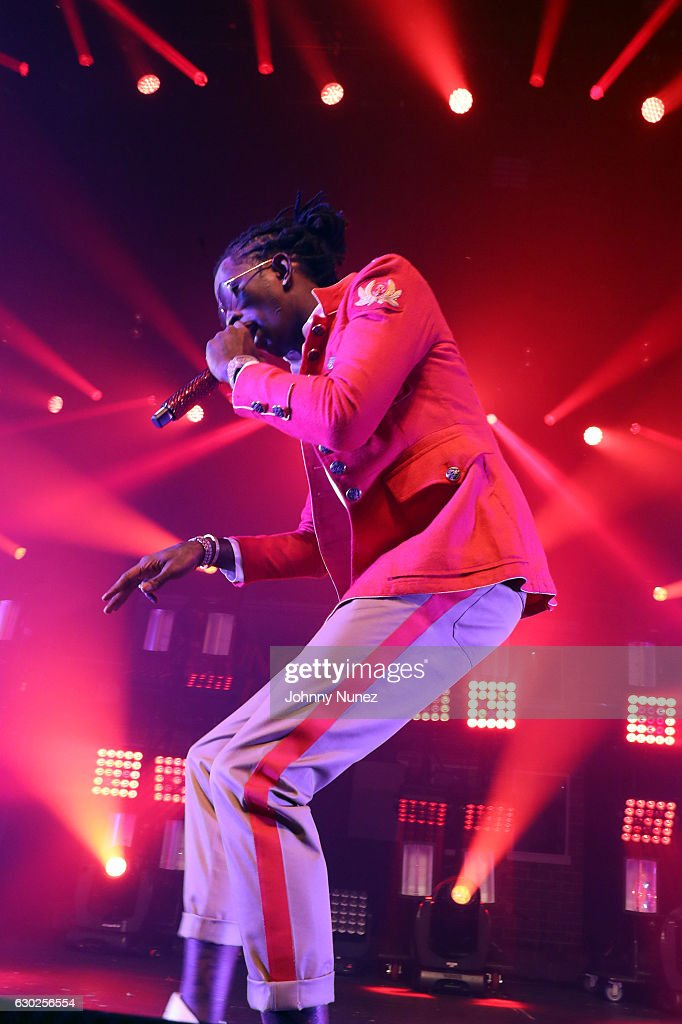 Young Thug performs at Terminal 5 on December 18, 2016 in New York City.