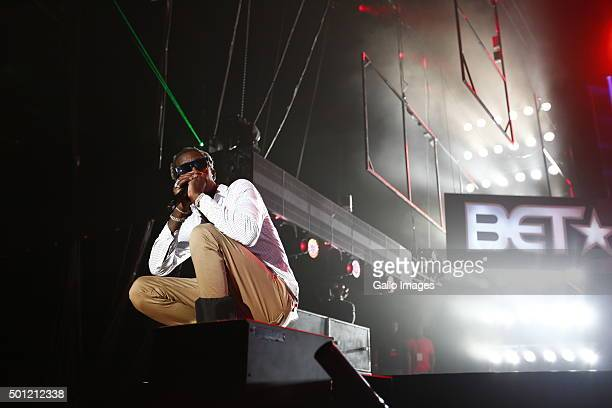 Young Thug performs at the BET Experience Festival at Ticketpro Dome on December 12 2015 in Johannesburg South Africa RnB stars Mary J Blige and...