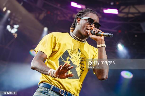 Young Thug performs at the Osheaga Music and Art Festival at Parc JeanDrapeau on August 03 2019 in Montreal Canada