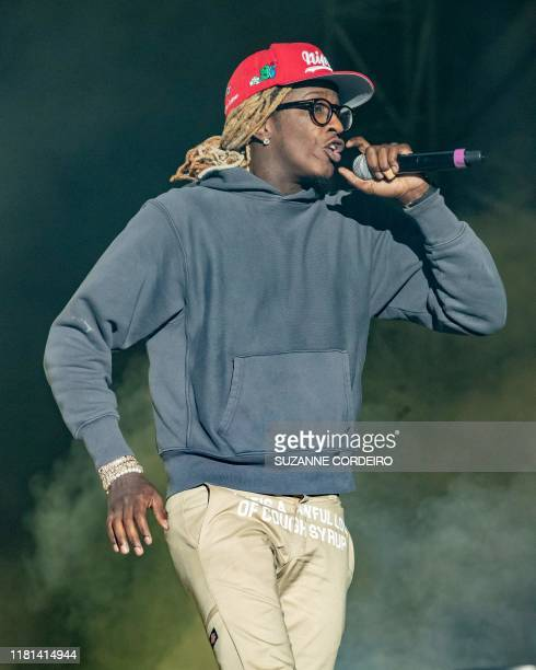 Young Thug performs during the Astroworld Festival at NRG Stadium on November 9 2019 in Houston Texas
