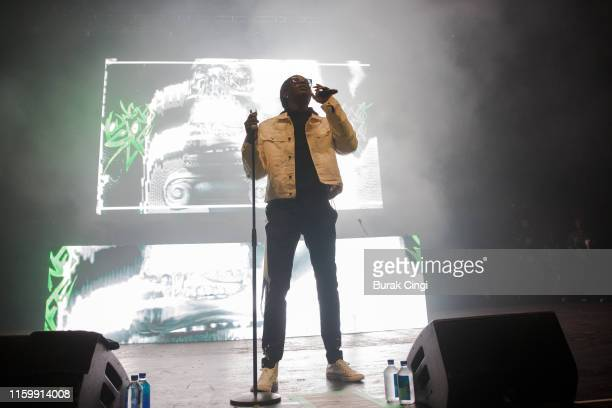 Young Thug performs on stage at O2 Academy Brixton on July 03 2019 in London England