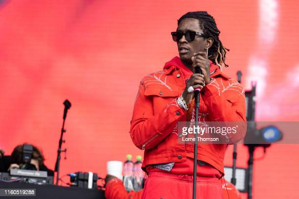 Young Thug performs on stage during Wireless Festival 2019 on July 06 2019 in London England