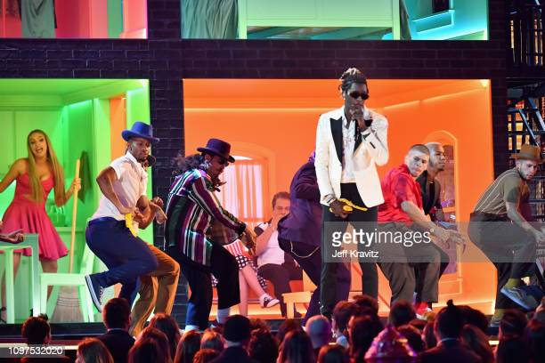 Young Thug performs onstage during the 61st Annual GRAMMY Awards at Staples Center on February 10 2019 in Los Angeles California