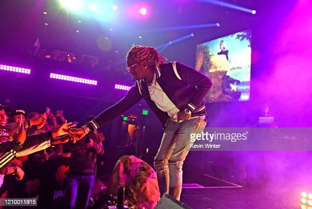 Young Thug performs onstage during the iHeartRadio Album Release Party with Lil Baby at the iHeartRadio Theater on March 02 2020 in Burbank California