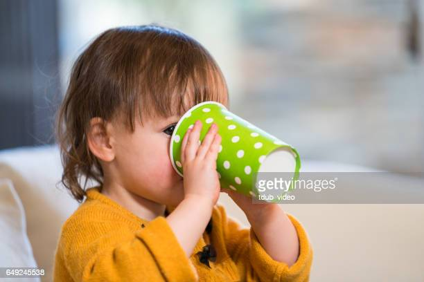 young toddler drinking from a disposable cup at social event - tdub_video stock pictures, royalty-free photos & images