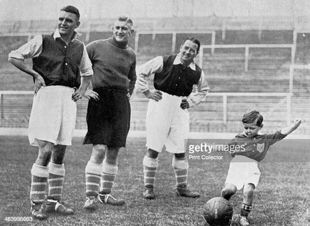 Young Tony Hapgood shows his skills at Highbury Watched by Arsenal footballers Eddie Hapgood Frank Moss and Alex James Tony went on to become good...