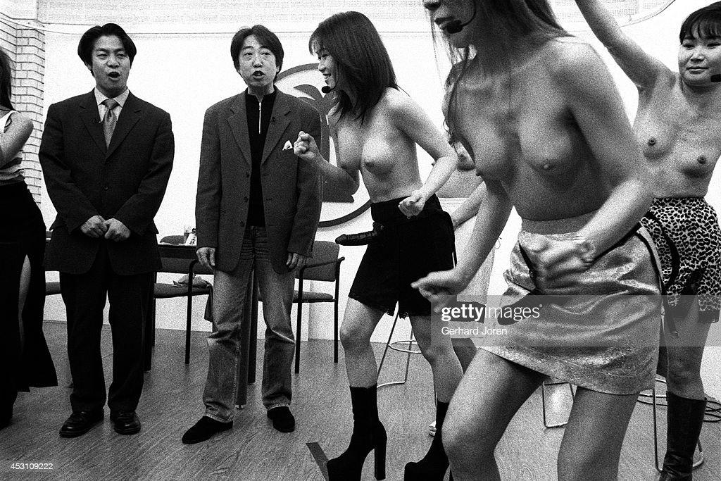 Girls topless dildo — img 1