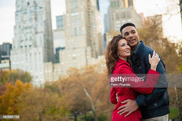 Young tourist couple in Central Park, New York City, USA