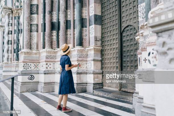 Young tourist in Genoa