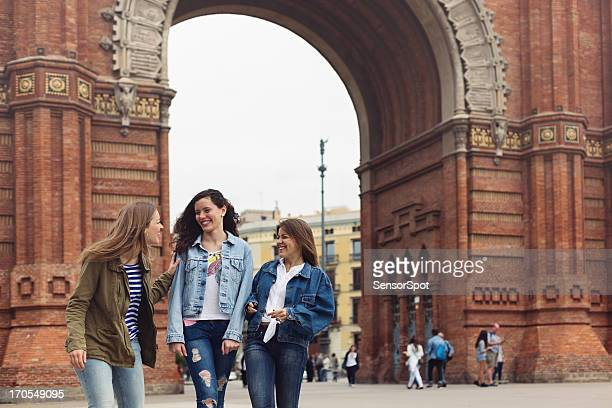 Young tourists in Barcelona