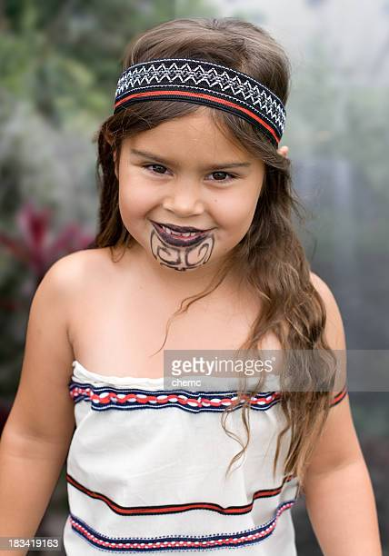 Young Traditional Maori Girl
