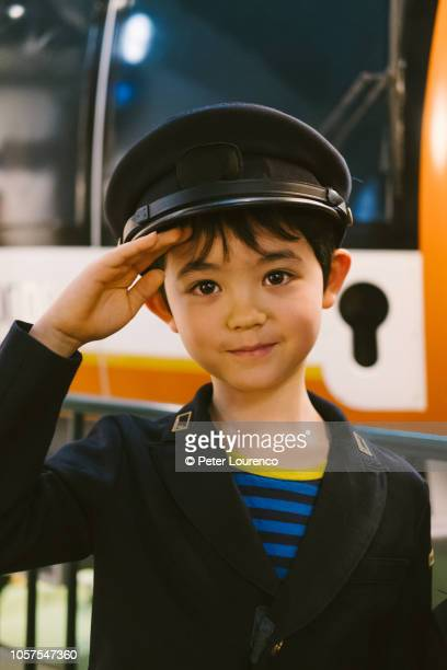 Young train driver