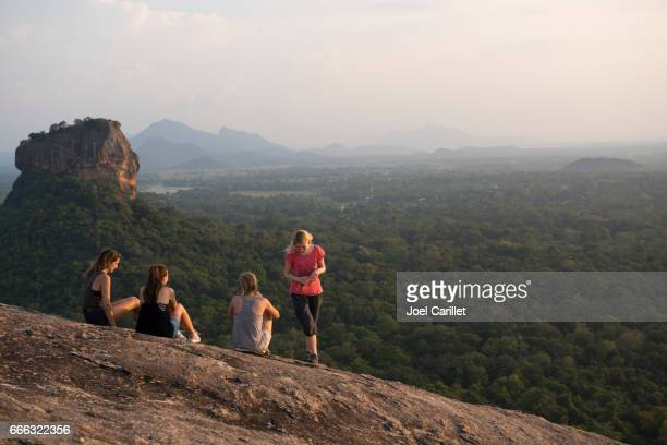 Young travelers at Pidurangala Rock, Sigiriya, Sri Lanka