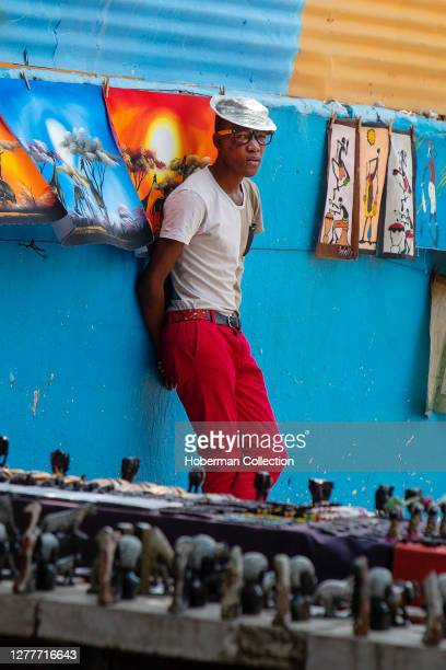 Young trendy African man at a market in Soweto Township, South Africa
