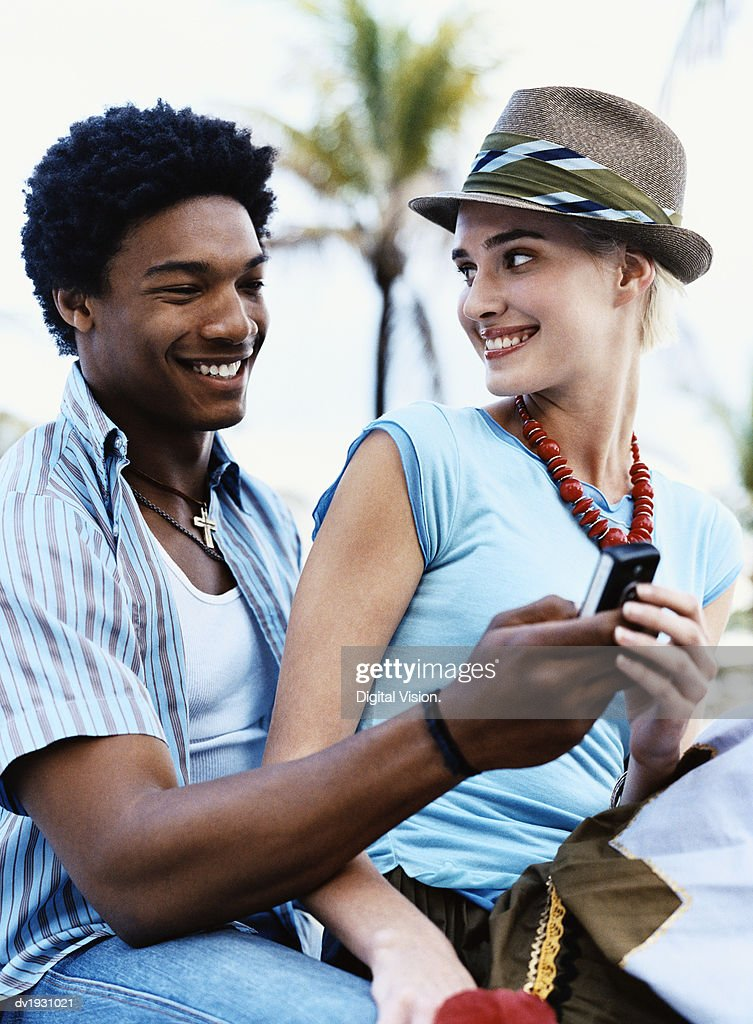 Young Trendy Couple : Stock Photo