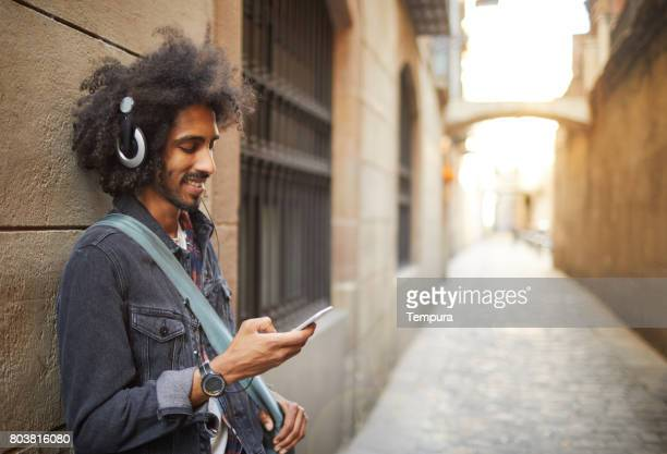Young trendy man in Barcelona.