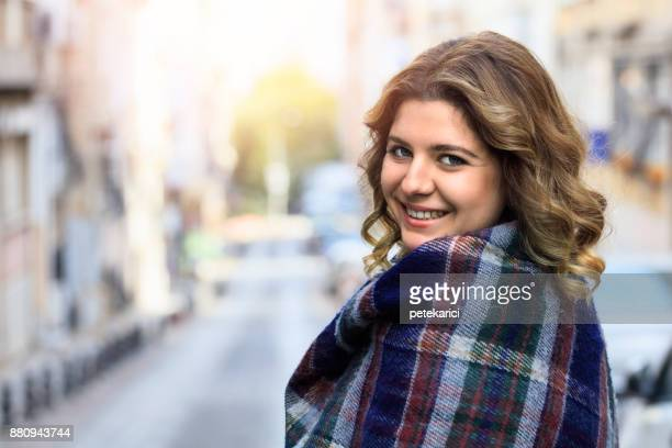 young turkish woman - chubby stock photos and pictures