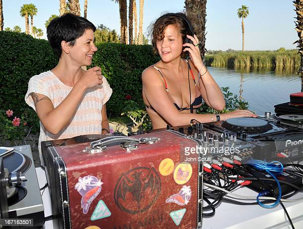 Young Turks/Girls Girls Girls attend the Soho House Pop Up with Bacardi Hosted by RADD during Coachella 2013 at Merv Griffin Estate on April 21 2013...