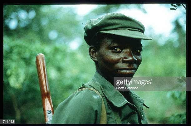 A young UNITA soldier poses for the camera January 23 1990 near Jamba Angola The National Union for the Total Independence of Angola and the Marxist...