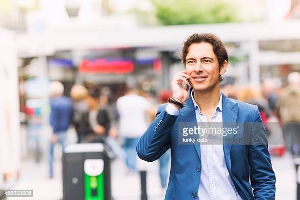 Young urban entrepreneur on the phone