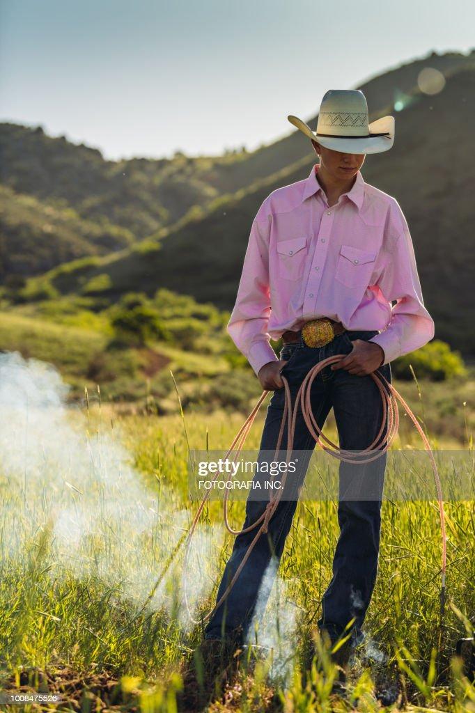 Young Utah Rancher : Stock Photo