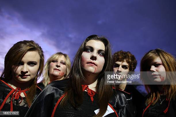 Young vampires at the Shocktober Fest at Tulleys Farm on October 5 2013 near Crawley West Sussex Each October thousands attend the United Kingdom's...