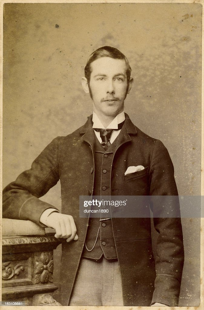 Young Victorian Man Old Photograph : Stock Photo