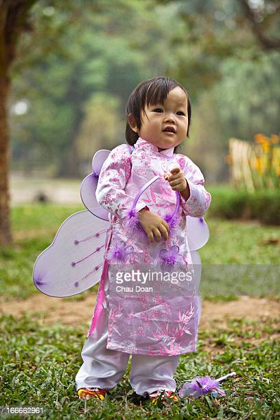 Young Vietnamese girl in traditional attire RELEASED